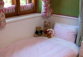 """große Bettwäsche 2teiliges Set """"Gardenparty"""" rosa, Blockstreifen"""