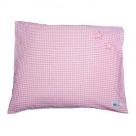 Kissen 40x35 Vichy rosa Sternchen petit filou