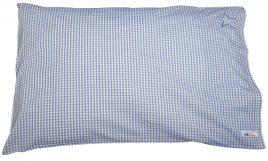 Kissen 35x40 ein Sternchen Vichy hellblau