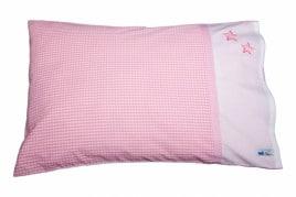 Kissenbezug 60x40 cm mit zwei Sternchen rosa